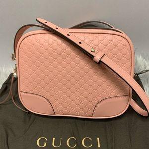 Gucci Bree Microguccissima Calf Pink Crossbody